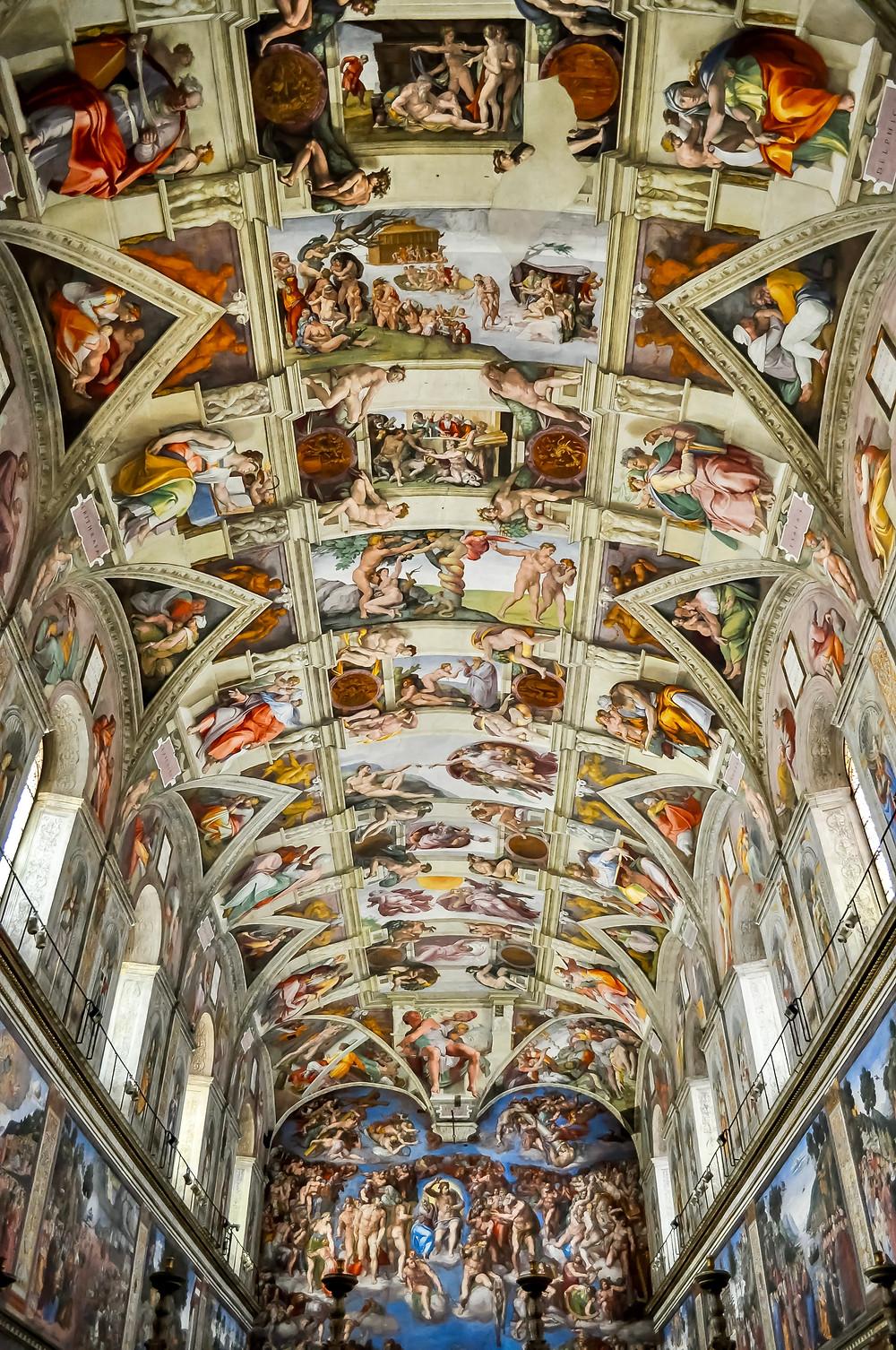 Michelangelo's Sistine Chapel frescos