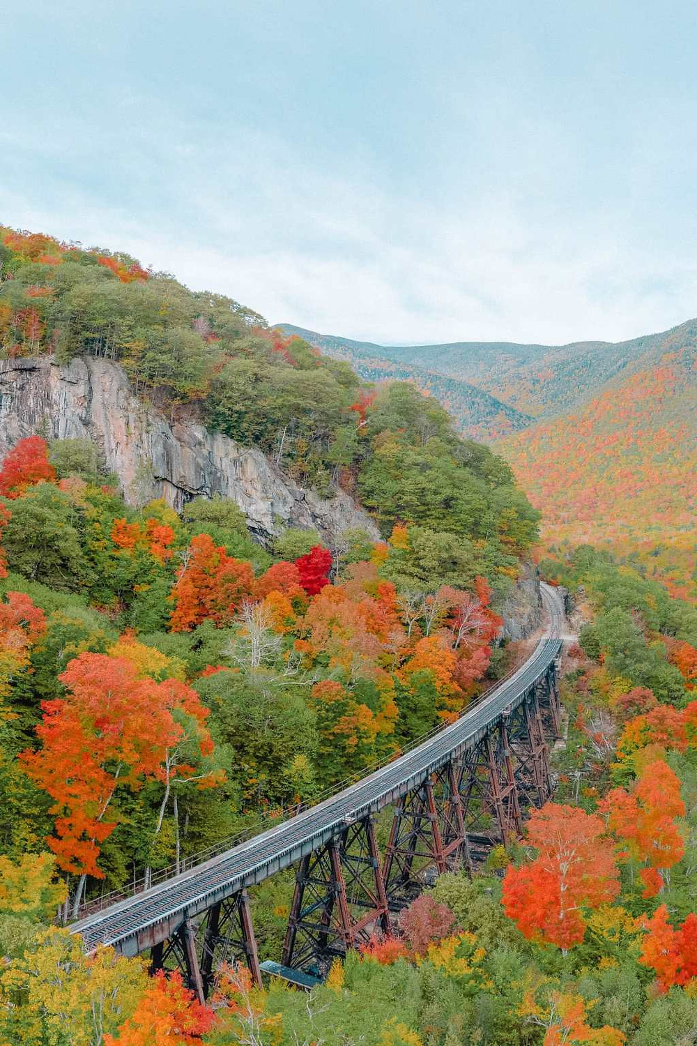 the Cog Railway in the White Mountains