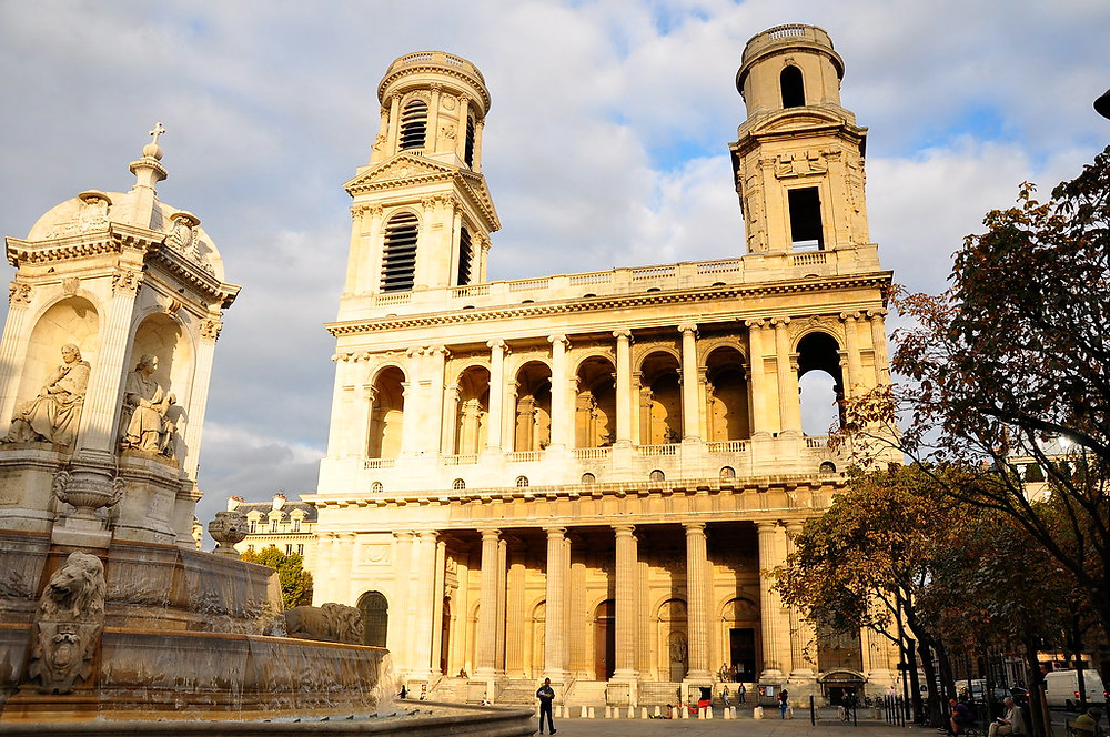 Eglise Saint-Sulpice, with its mismatched towers