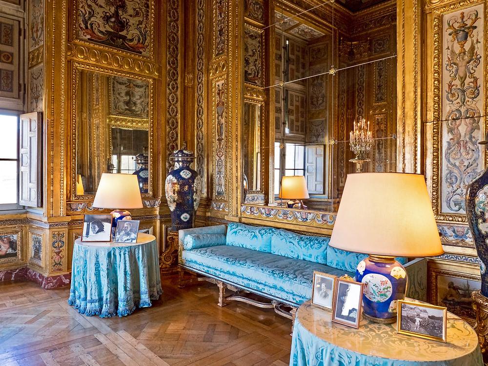 elegant room in Chateau Vaux-le-Vicomte outside Paris