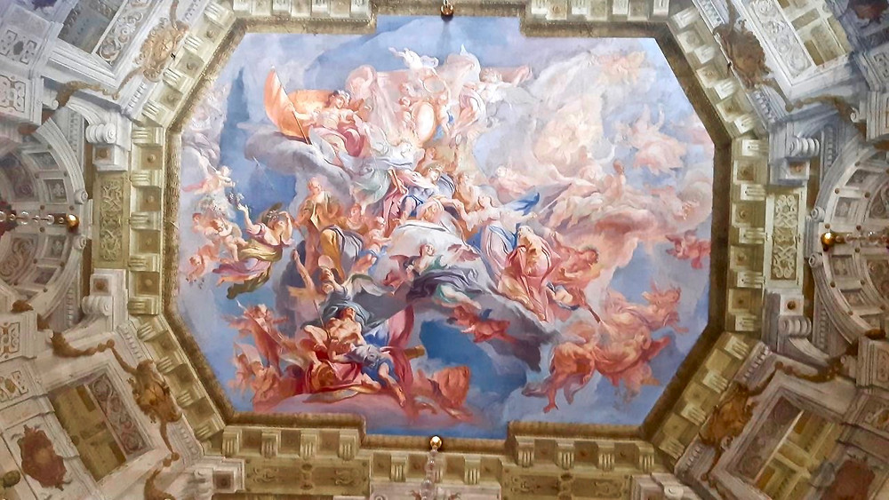 ceiling fresco in the Upper Belvedere Palace
