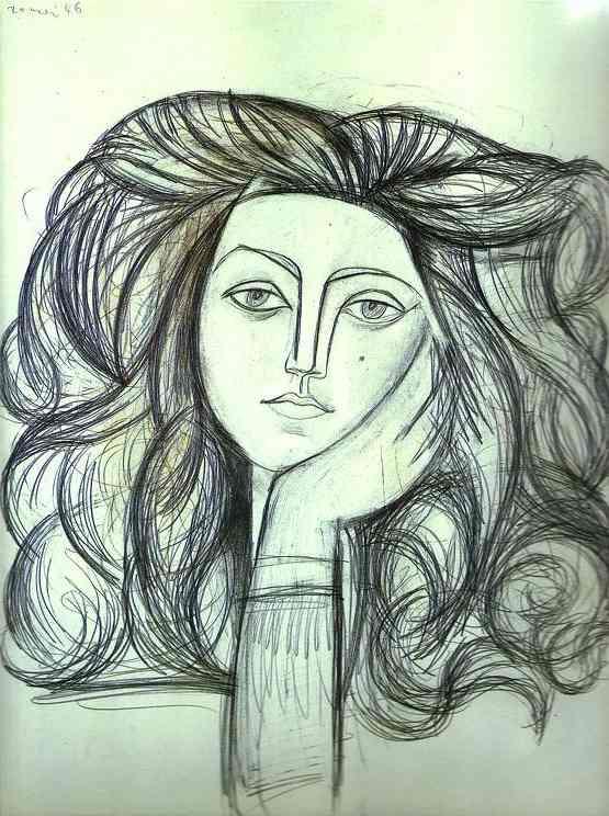 Portrait de Francoise, 1946, by Pablo Picasso