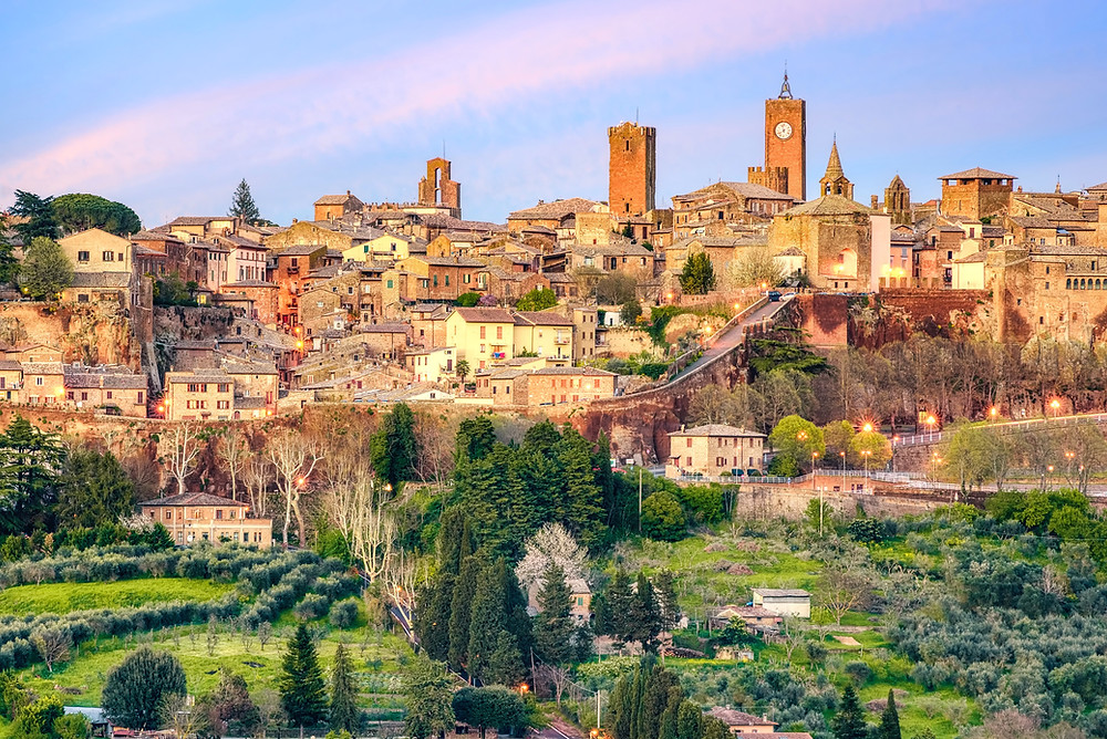 the town of Orvieto in Umbria
