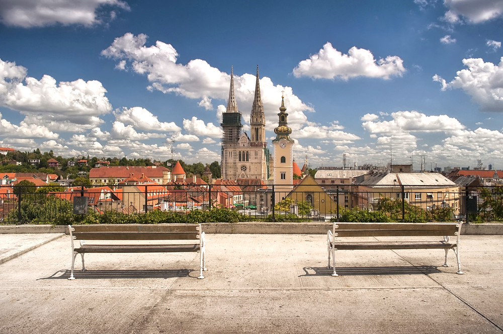Zagreb Cathedral as seen from Gradec