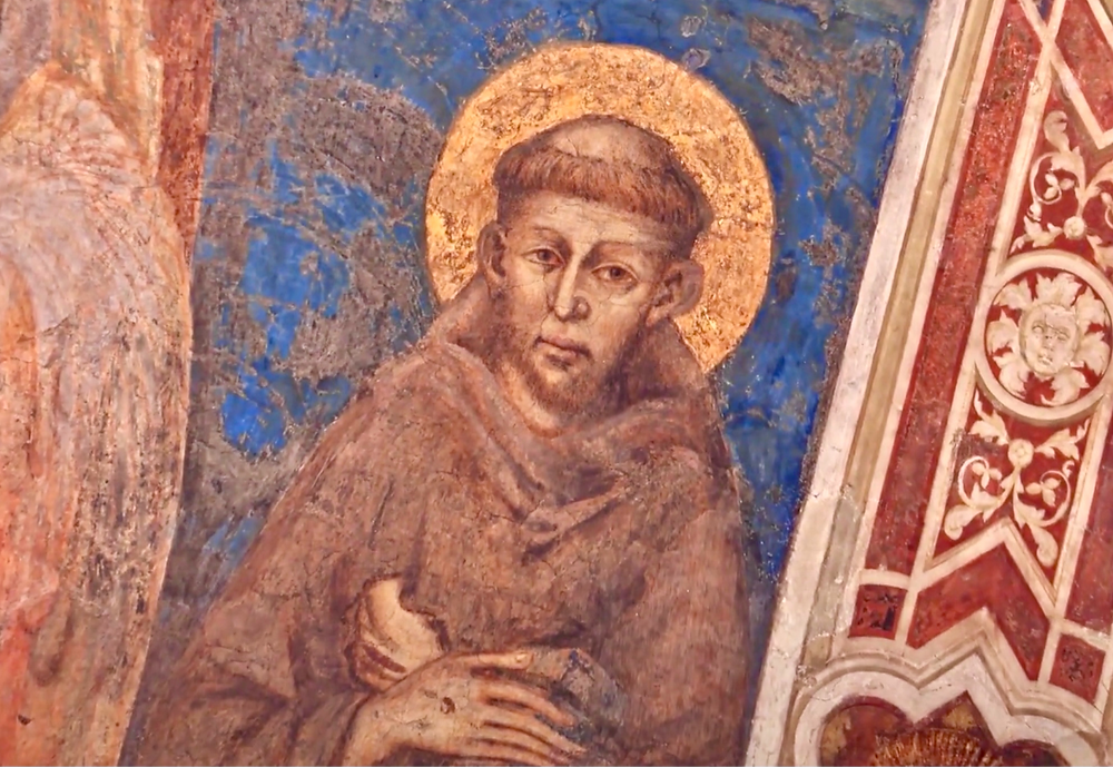 one of the earliest known portraits of St. Francis, in the lower basilica