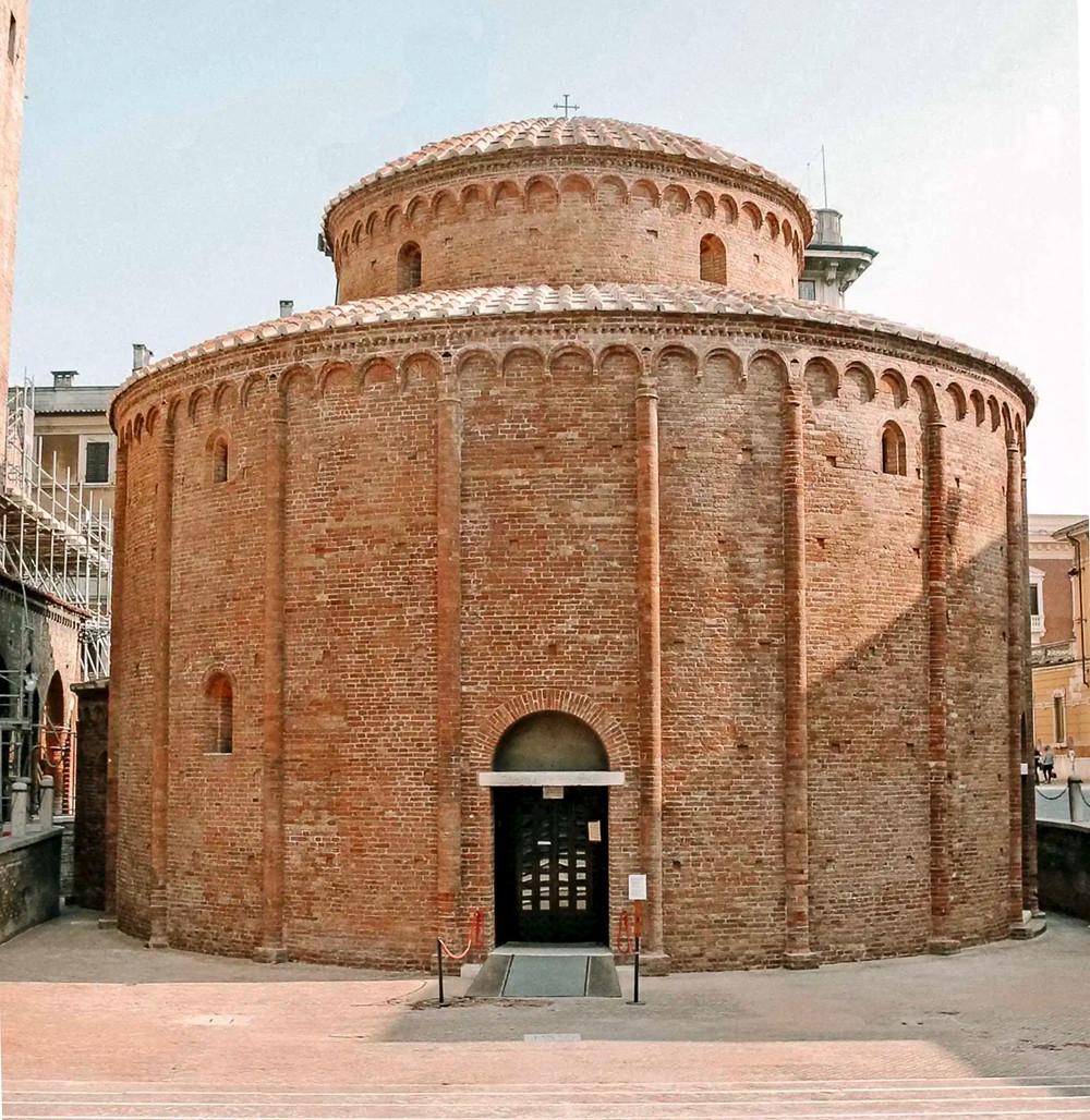 the 11th century Rotunda of San Lorenzo