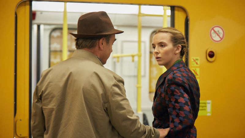 Bill and Villanelle meet face to face on the metro