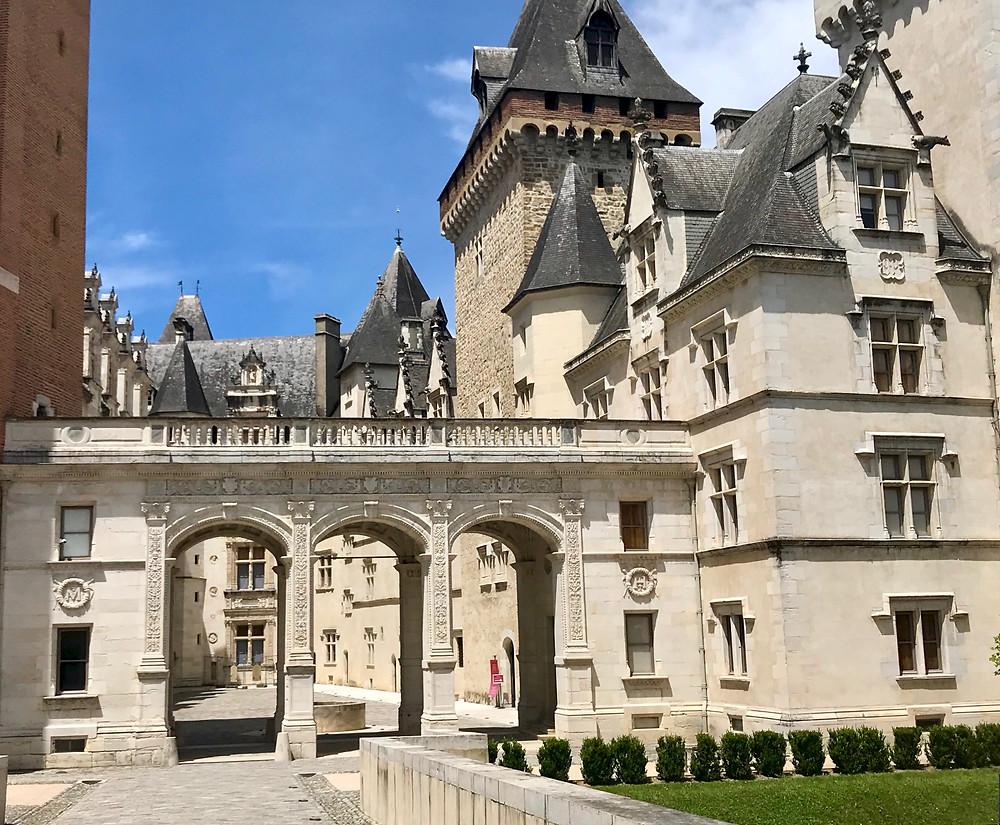 the elegant Chateau de Pau in Pau France
