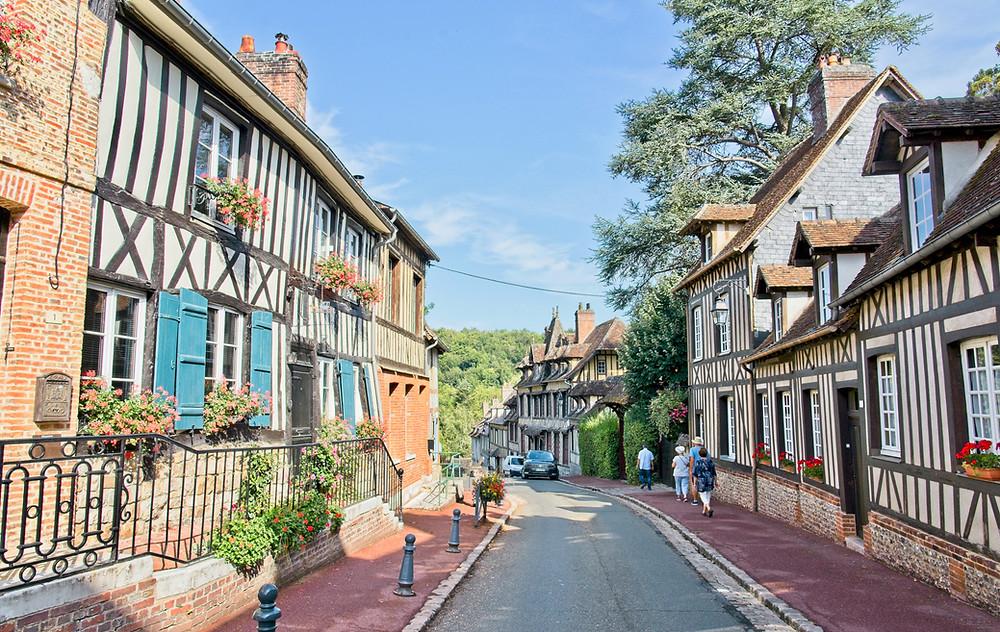 pretty street in Lyons-la-Foret