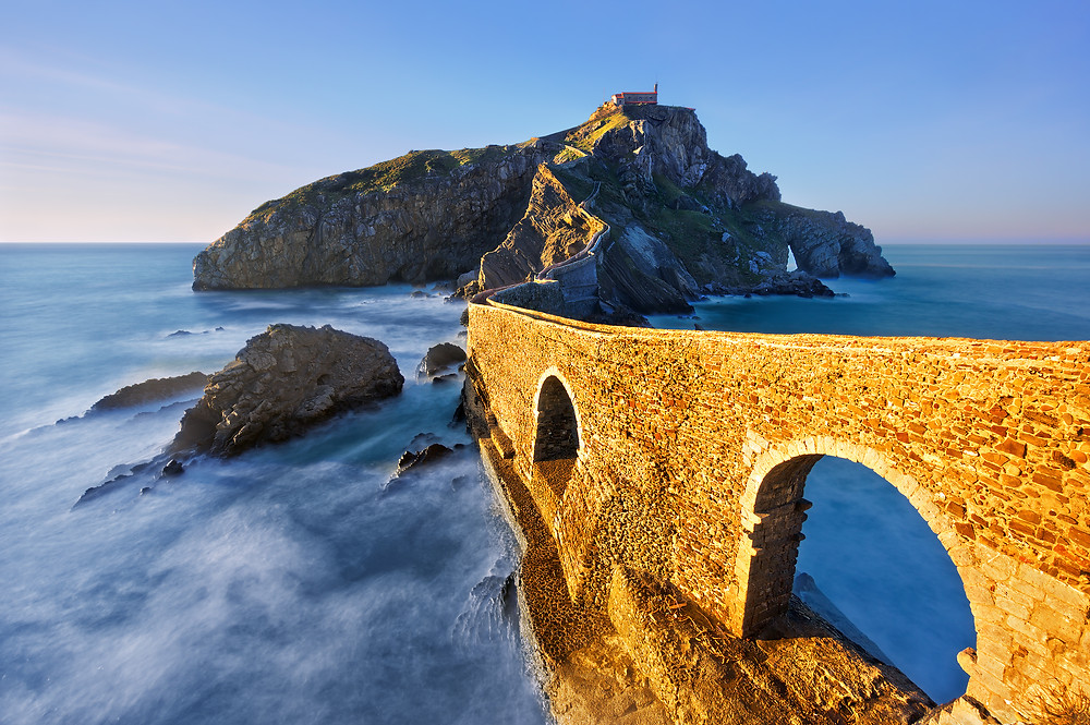 San Juan de Gaztelugatxe, outside Bilbao n the Basque coast. It's an unmissable sit in northern Spain