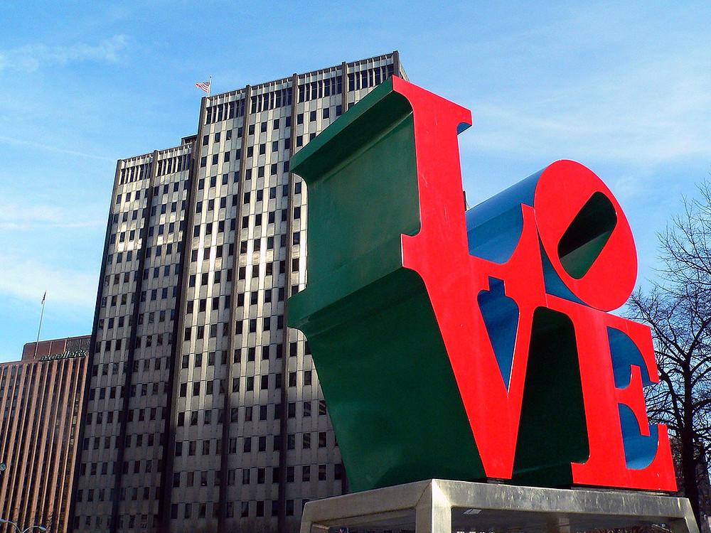 Robert Indiana, Love, 1976   -- in JFK PLaza aka Love Park