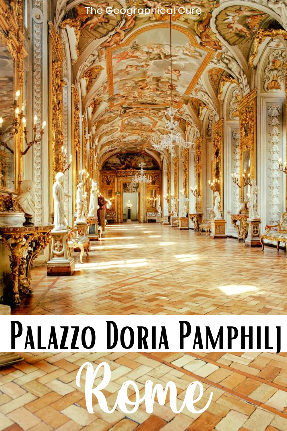 guide to the Palazzo Doria Pamphilj, a beautiful hidden gem in Rome Italy