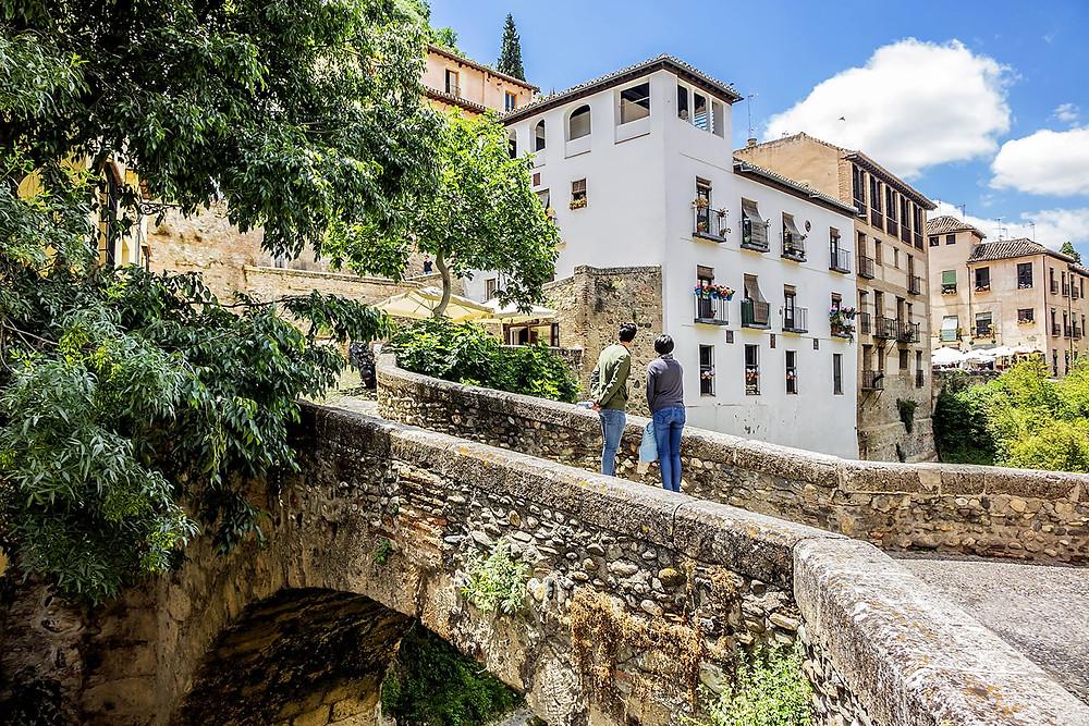 the Carrera del Darro, a scenic walk along the river