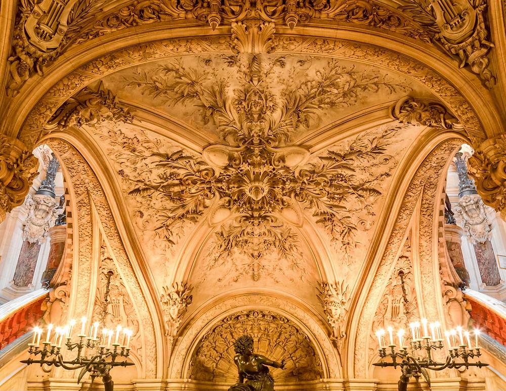ornate decorations in the Opera Garnier
