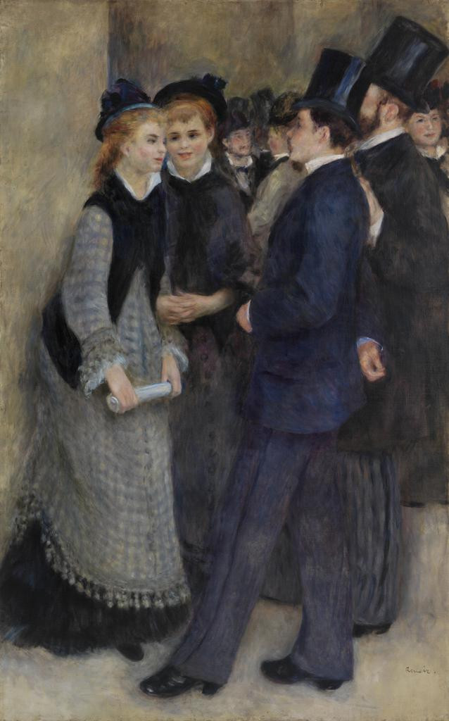 Auguste Renoir, Leaving the Conservatory, 1876-77