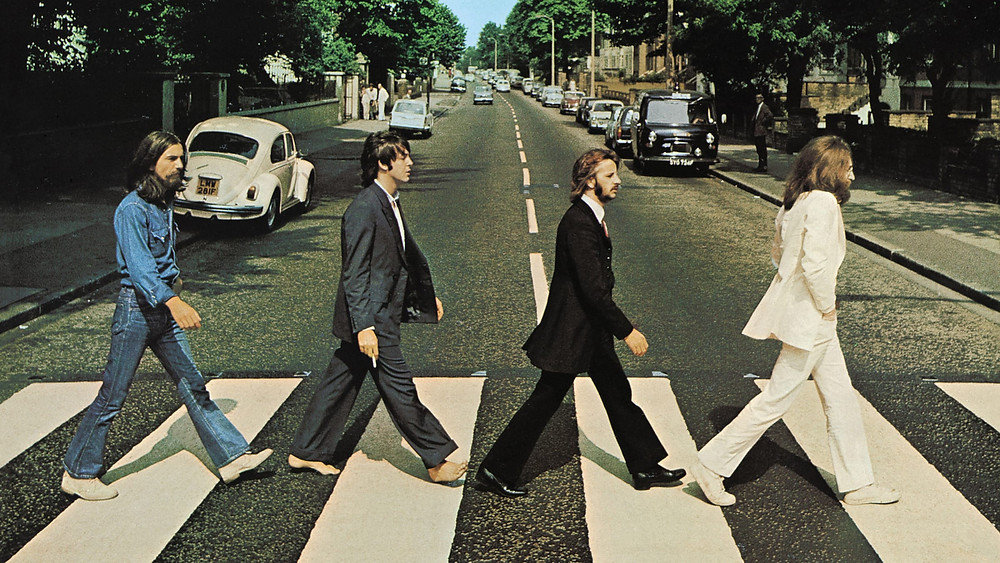 the Beatles' iconic album cover for Abbey Road