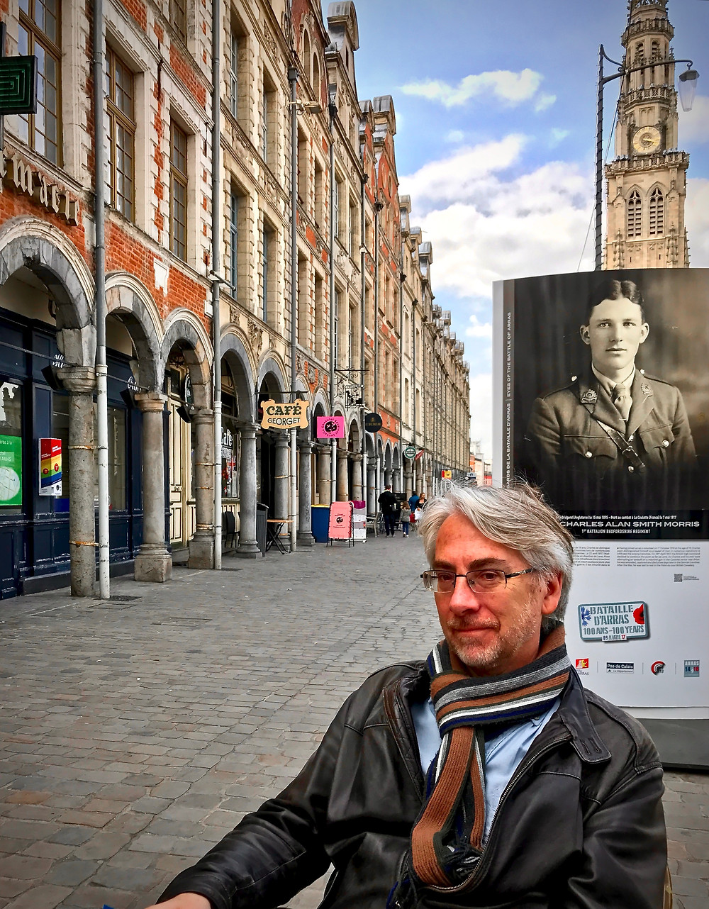 my BFF looking dashing in Arras on the Grand Place