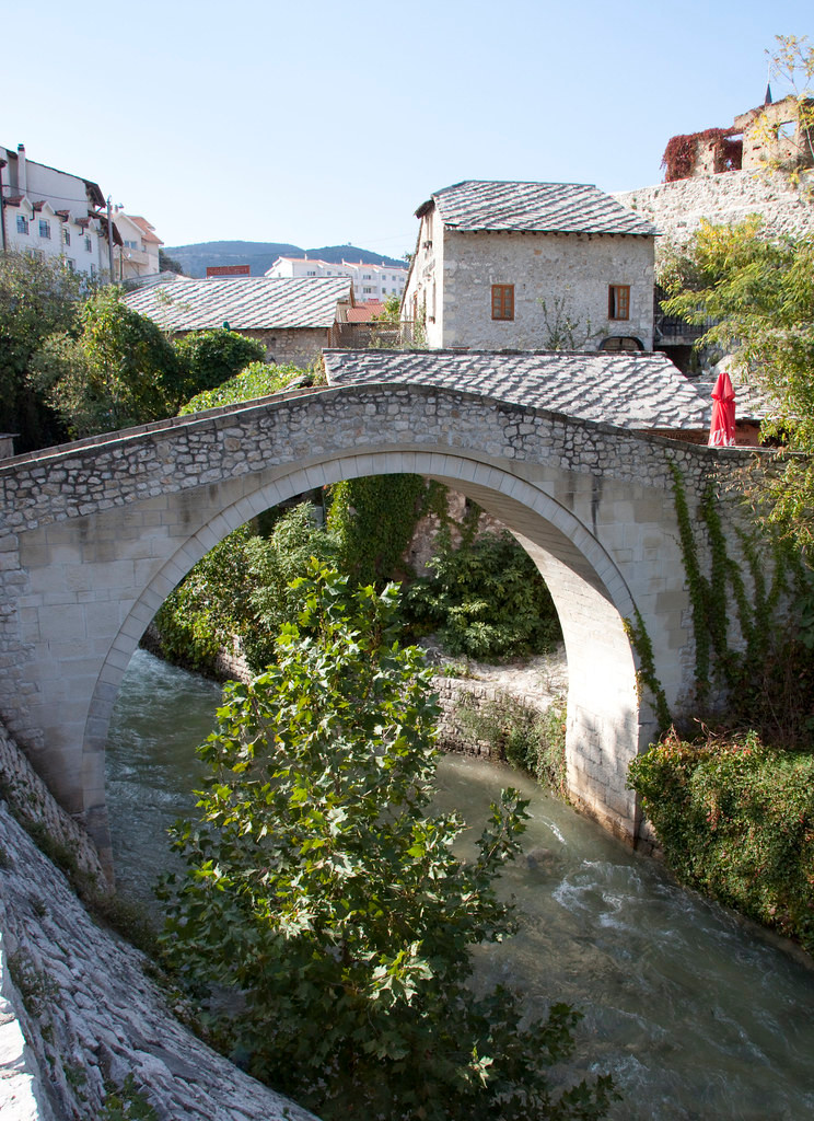 the little Crooked Bridge in Mostar