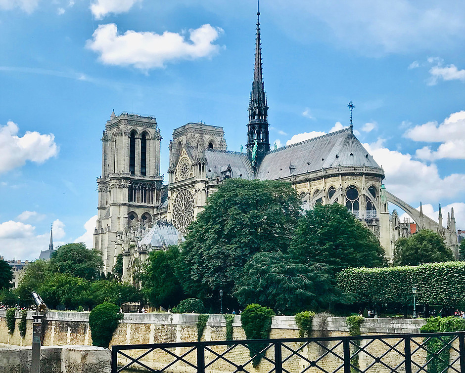 my last photo and last look at Notre Dame in June 2018 before the fire