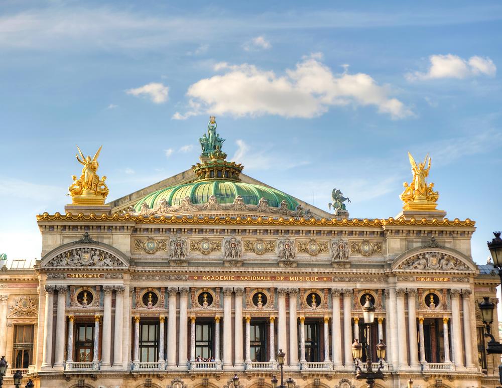 facade of the Opera Garnier, designed by Charles Garnier