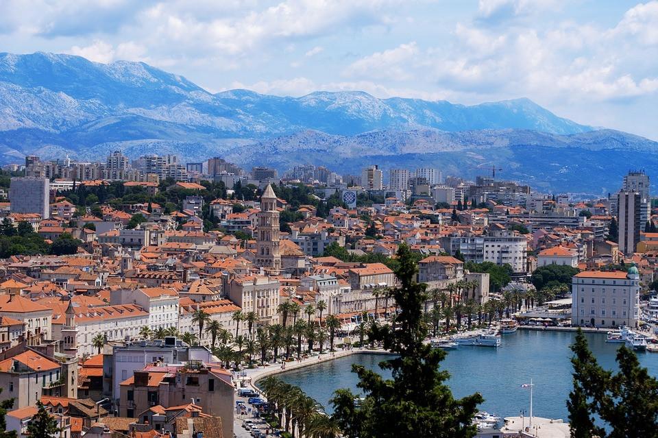 the beautiful town of Split on the Adriatic Coast of Croatia