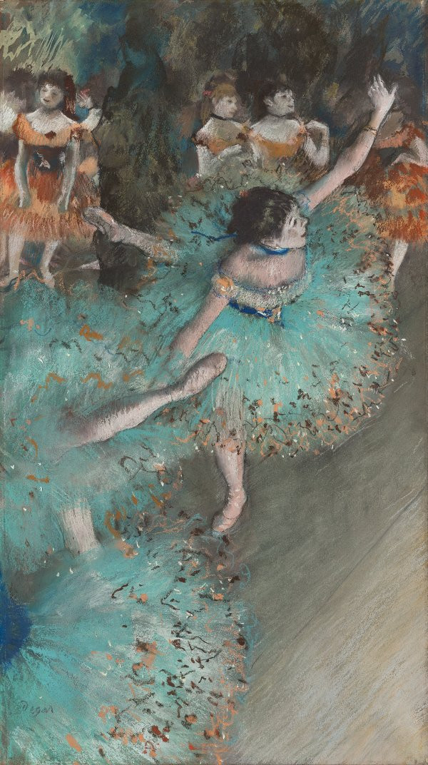 Edgar Degas, Swaying Dancer in Green, 1877-79