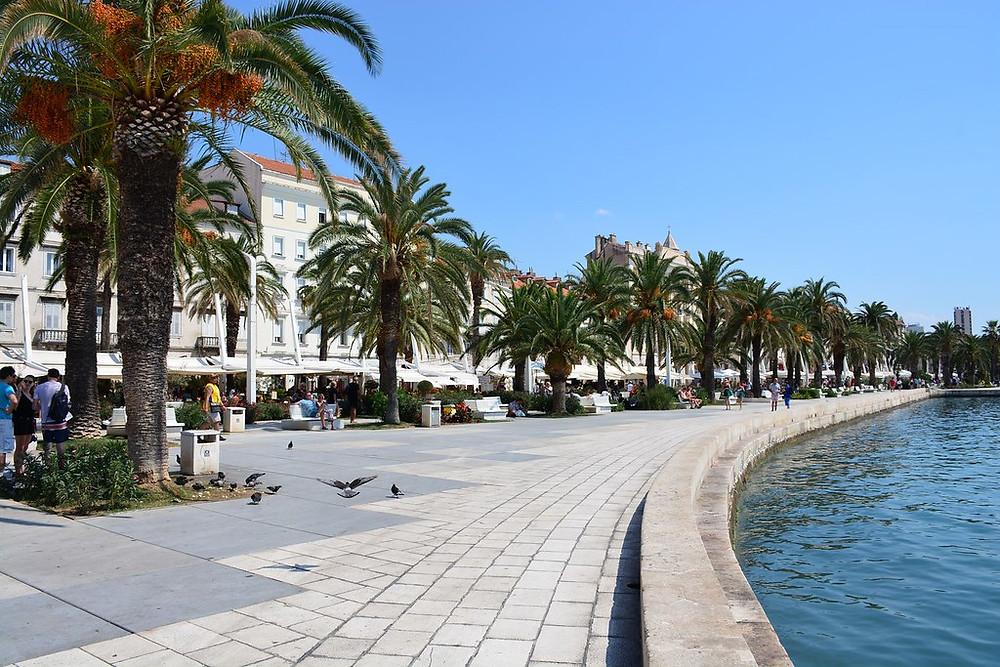 the Riva Promenade in Split