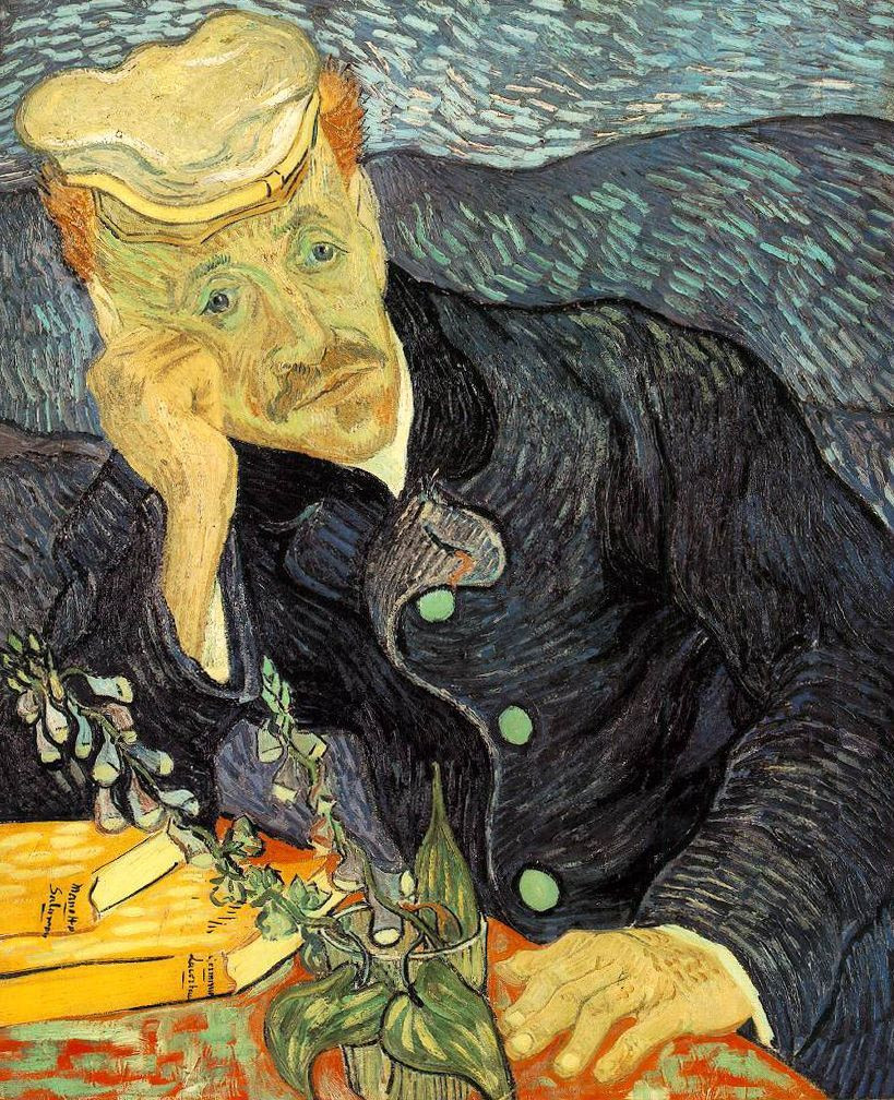 Vincent Van Gogh, Portrait of Dr. Gachet, 1890 -- at the Musée d'Orsay in Paris