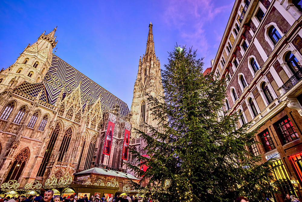 Stephansplatz Christmas market in Vienna