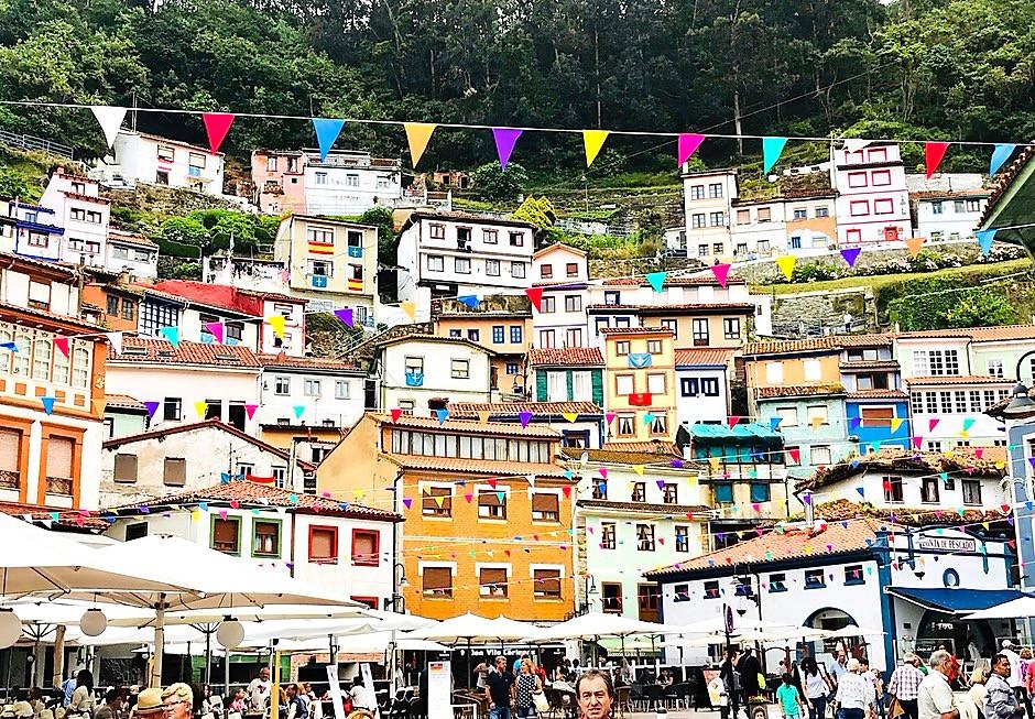 the fishing village of Cudillero in Asturias Spain