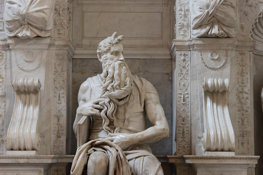 Michelangelo's Moses sculpture in the Church of St. Peter in Chains