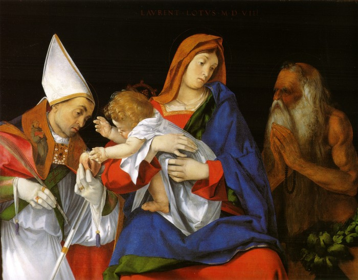 Lorenzo Lotto, Madonna and Child with Two Saints, 1508