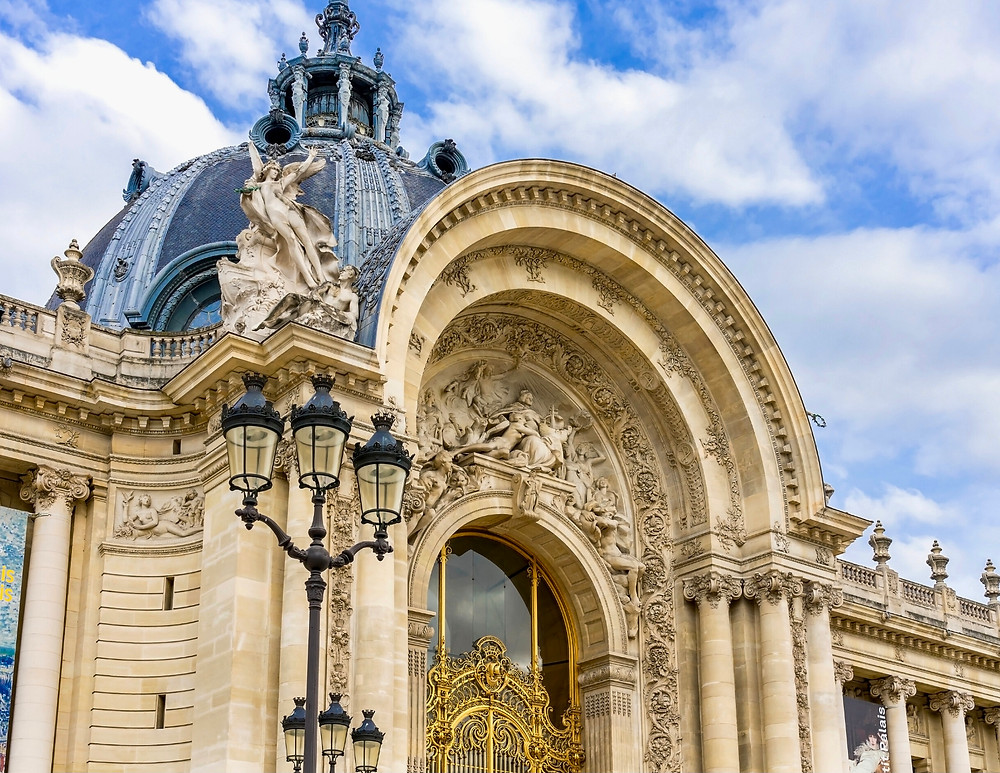 facade of the Petit Palais, a must see small museum in Paris
