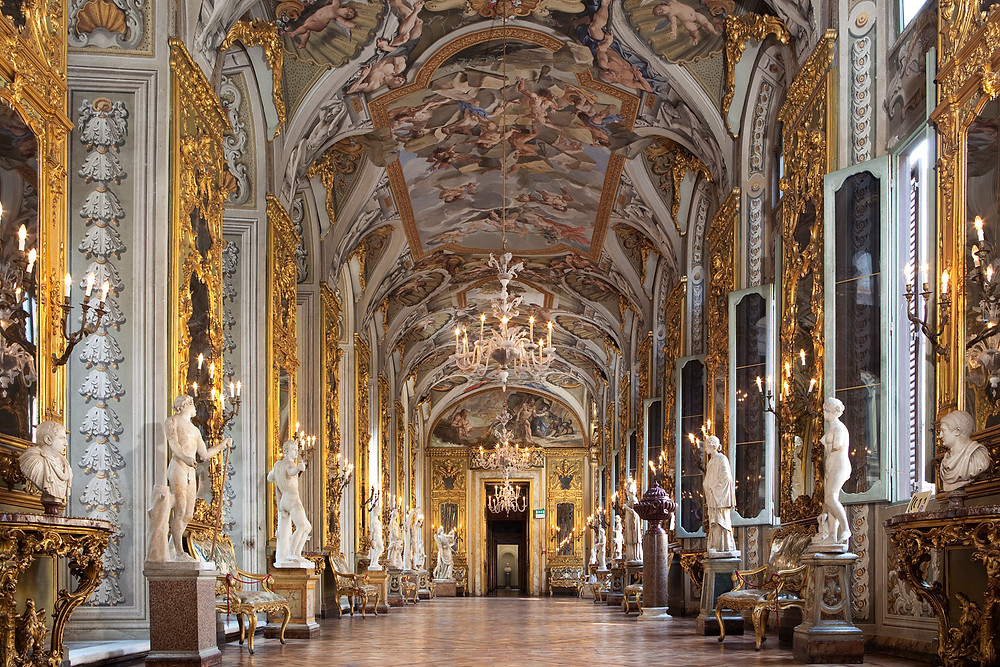Hall of Mirrors in the gallery of Palazzo Colonna