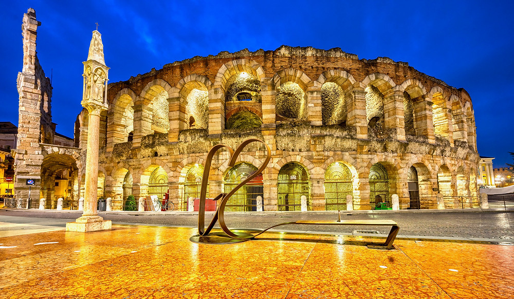 the well-preserved Roman Arena in Verona