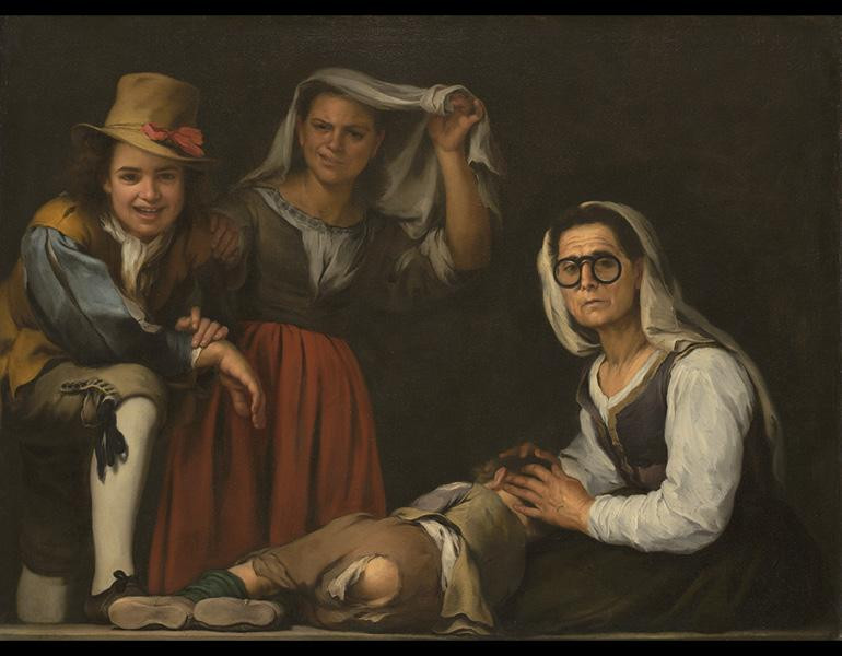 Murillo, Four Figures on a Step, c. 1655–60 -- had to pee so got to see Murillo