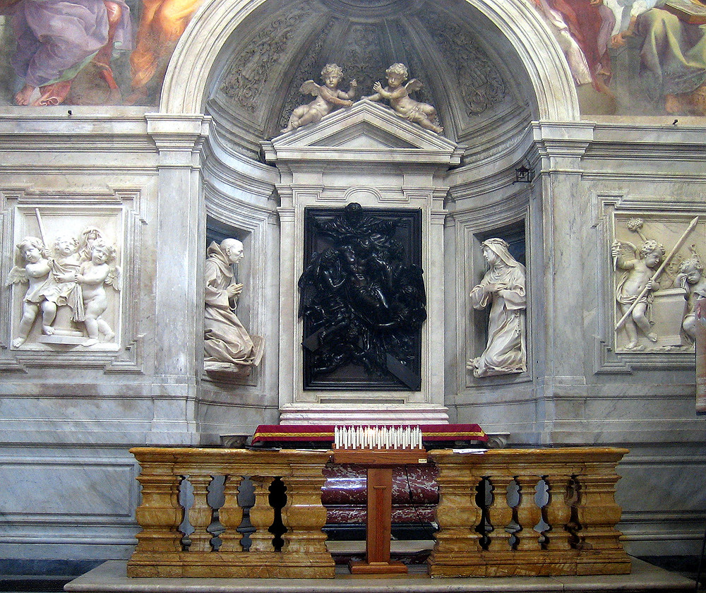 the Chigi Chapel in Santa Maria del Popolo, designed by Raphael. Image source: Anthony M from Rome, Flickr