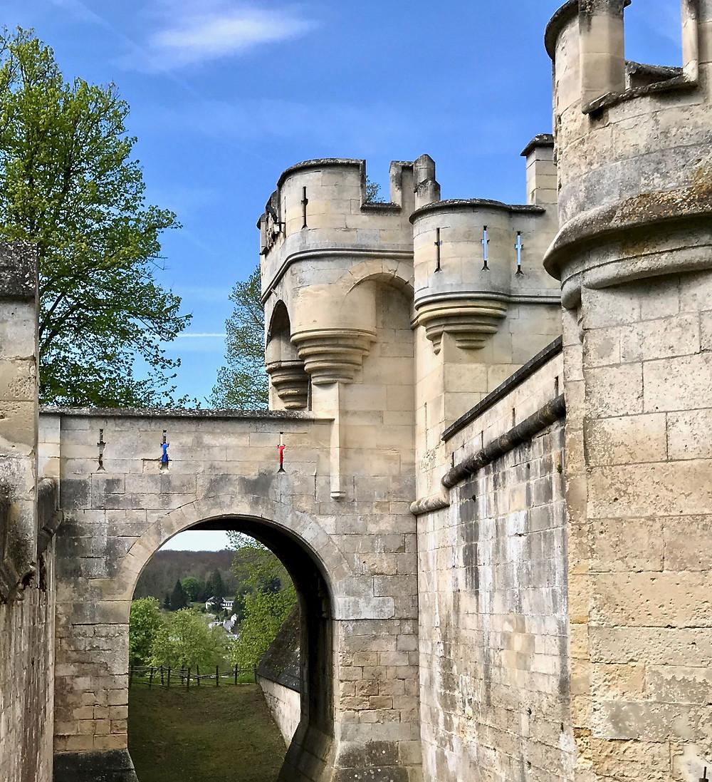 arrow slits in the castle walls