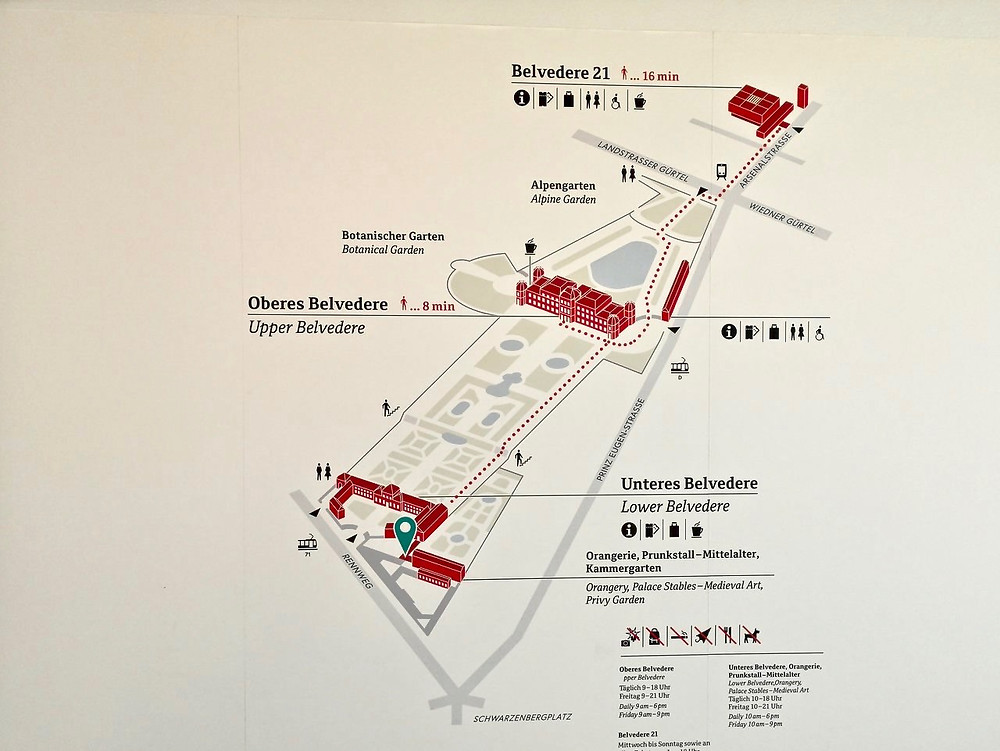 map of there Belvedere Museum in Vienna