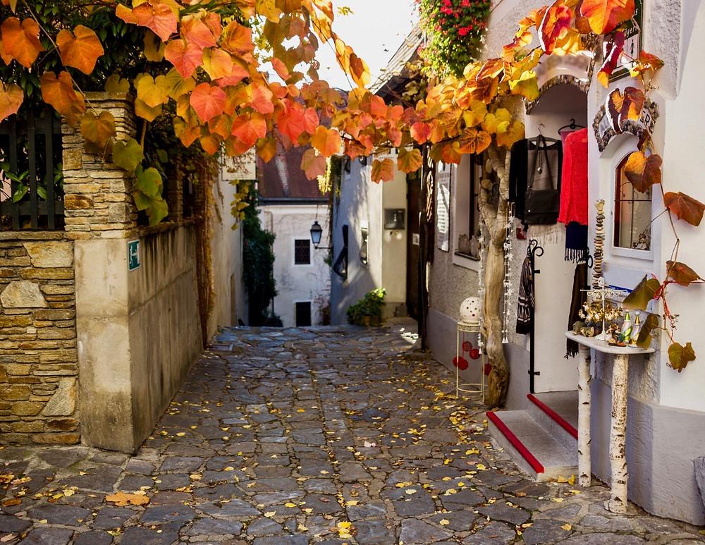 pretty street in Durnstein