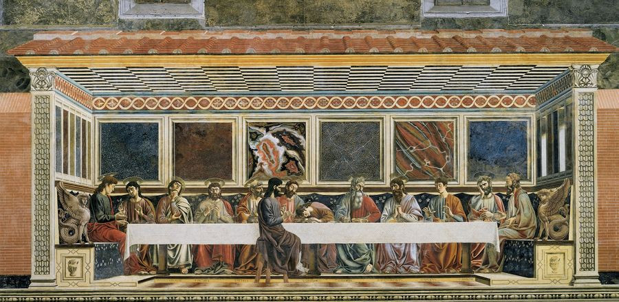 Andrea del Castagno, The Last Supper (1445–50).