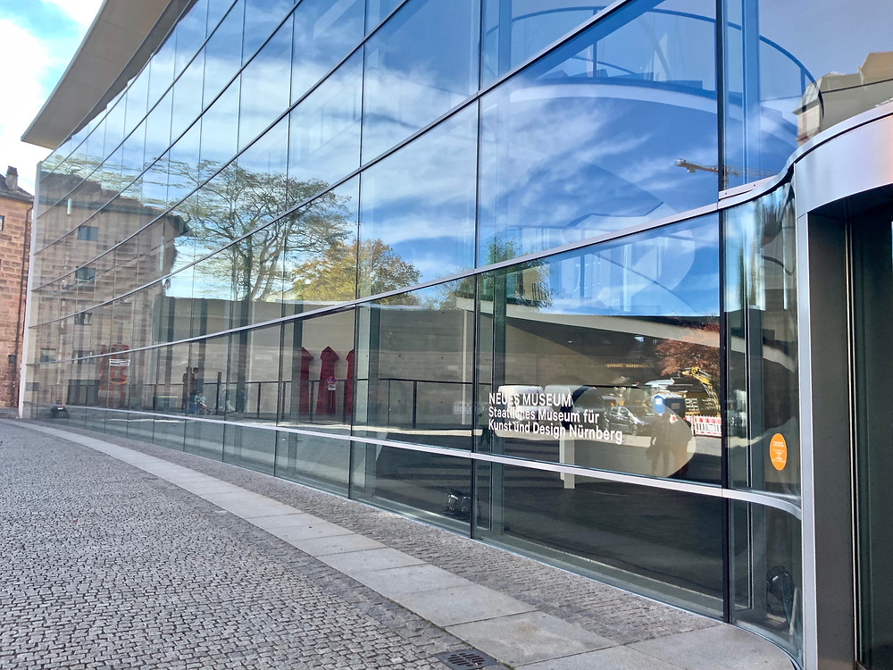 the ultra modern Neues Museum in Nuremberg