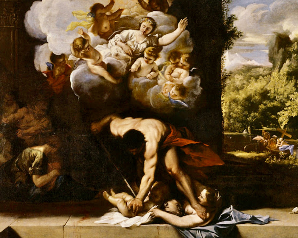 Pietro Testa, An Allegory on the Massacre of the Innocents, 1630-50