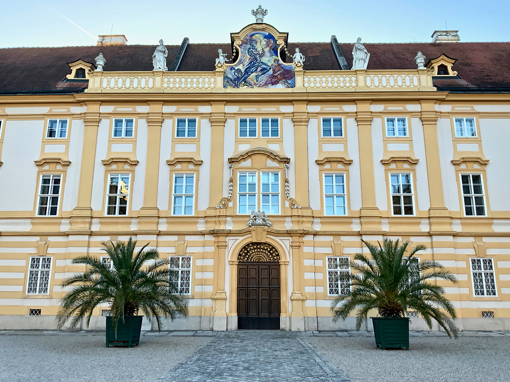 facade of Melk Abbey, an unmissable site in Austria's Wachau Valley