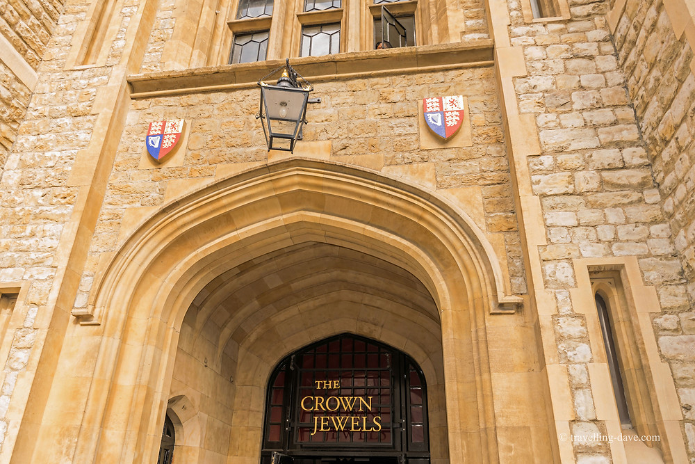 grand entrance to the Crown Jewels, kept in the Martin Tower called The Jewel House