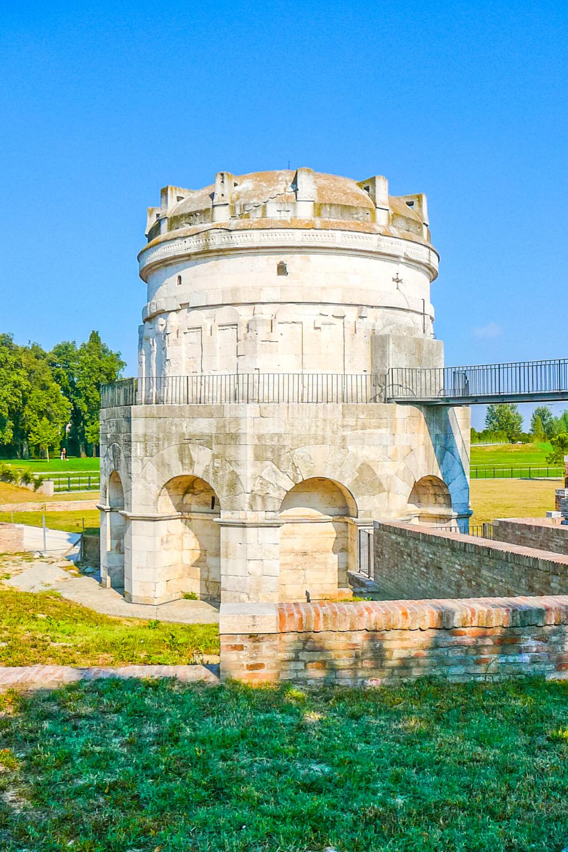 the Mausoleum of Theodoric just outside Ravenna