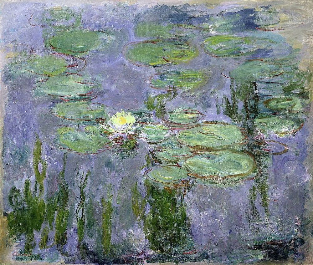 Monet water lily painting in the Musee Marmottan Monet in Paris