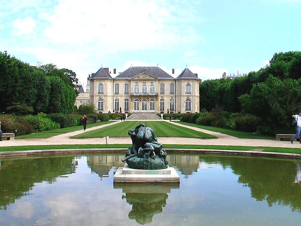 The Rodin Museum, housed in a gorgeous rocaille mansion