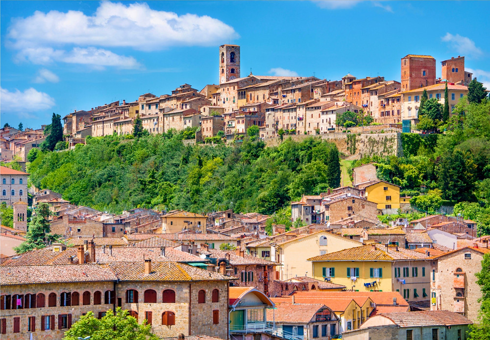 the medieval town of Colle Di Val d'Elsa