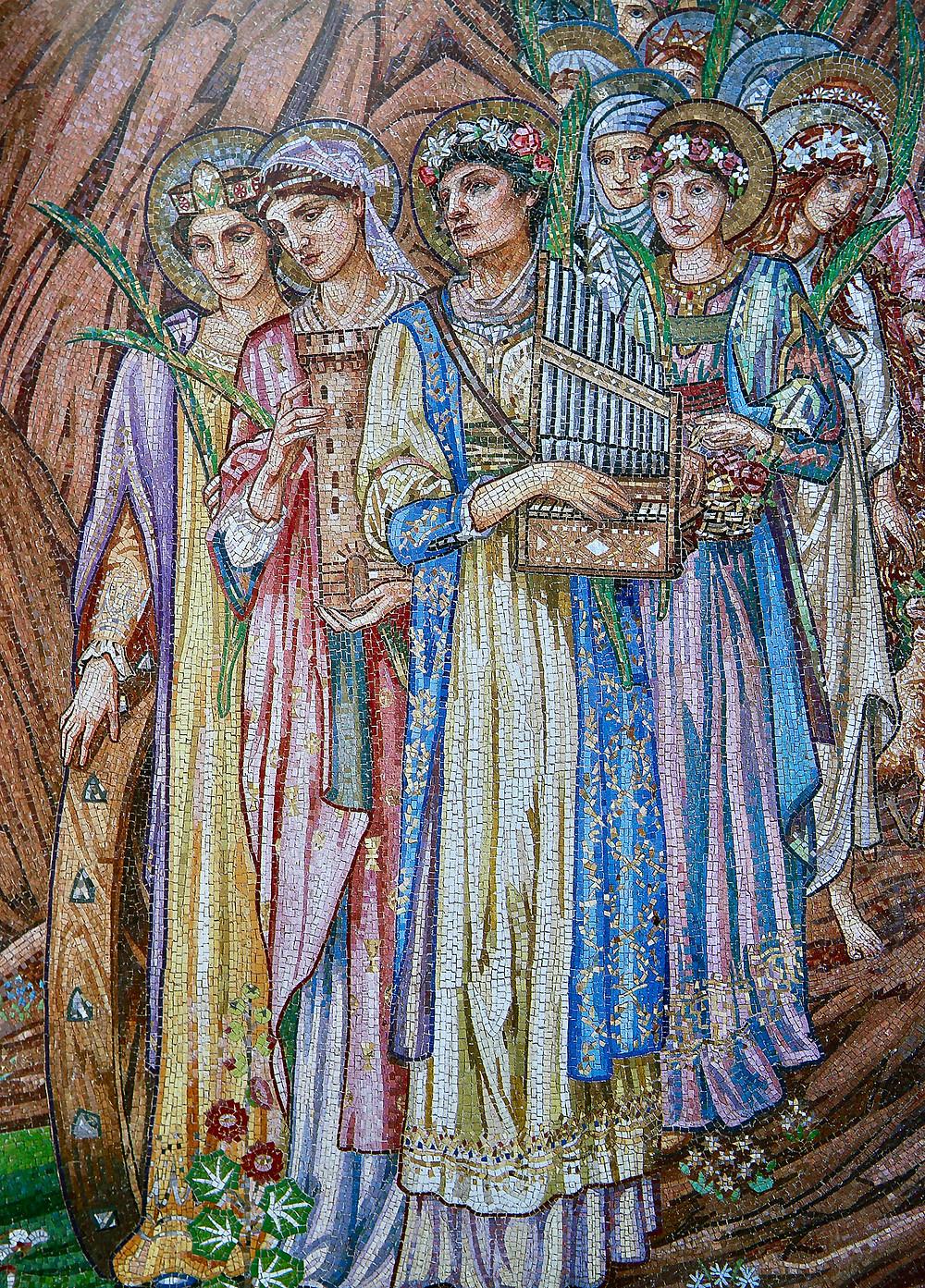 mosaics in the new church